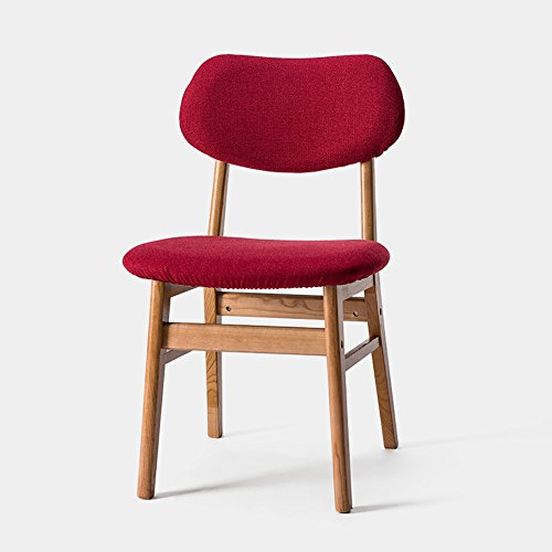 FEI Confortable Chaises pliantes en bois de Housewares pour le café, le bistro, le dîner, le restaurant Solide et durable (Couleur : Rouge, taille : A)