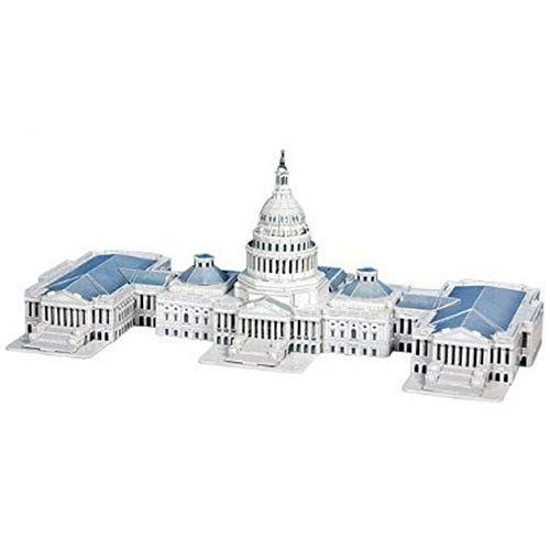 Liberty Imports 3D Puzzle DIY Model Set - Worlds Greatest Architecture Jigsaw Puzzles Building Kit (US Capitol Hill)