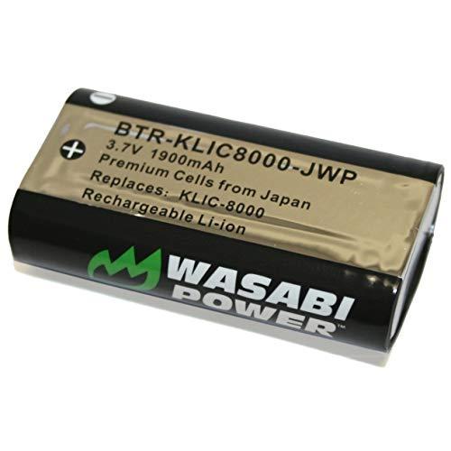 Wasabi Power Battery for Kodak KLIC-8000, KLIC8000 and Kodak EasyShare Z612, Z712, Z740, Z812 is, Z1012 is, Z1015 is, Z1085 is, Z8612 is, Zx1, ZxD -  BTR-KLIC8000-C-004