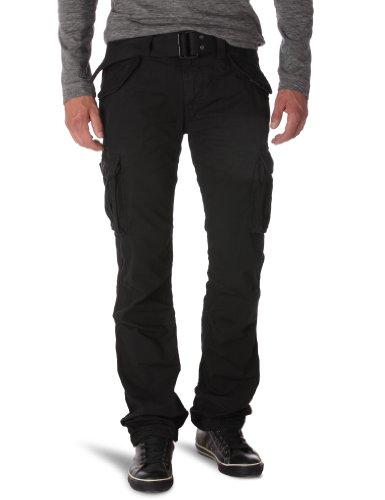 Schott NYC Pantalon Militaire Schott, Noir (Black Black), W31 Homme