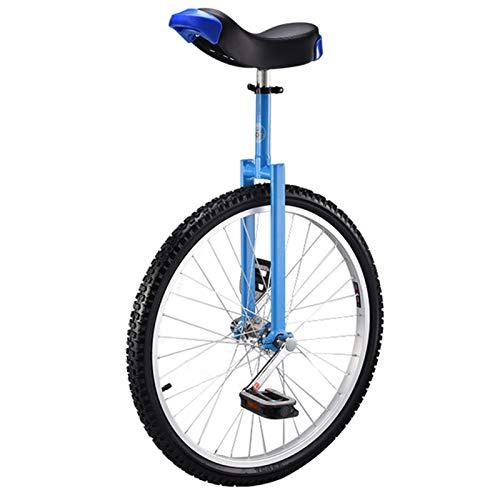 Lqdp Monociclo Monociclos Adultos Grandes de 24'' para Hombres/para Trabajo Pesado/Personas Altas, Altura Desde 175cm - 190cm Professionals One Wheel Bike, Fácil de Montar (Color : Blue)