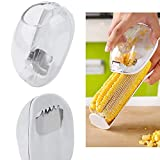 Novelty Corn Stripping Tool, Practical Corn Peeler, Corn Stripper, Cob Remover, Corn Shaver Gadgets. It Can Protect Hands from Incised wound(White)