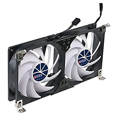 Titan- 12V DC Double Rack Mount Ventilation Cooling Fan for Fridge Vent and Ventilation Grille with Speed Controller
