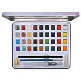 Herramientas de pintura, juego de pintura de acuarela, exquisito pequeño brillante para pintar niños, estudiantes, regalos de arte