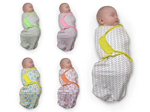 Baby Studio swaddlewrap (0 à 3 mois, petit, XO Rose)