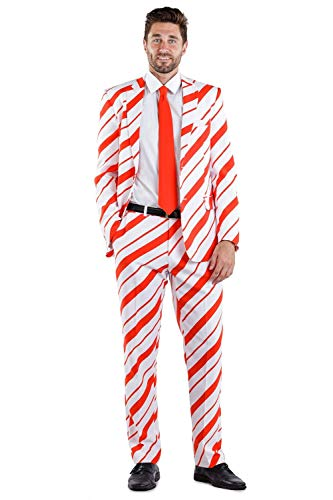 Tipsy Elves Candy Cane Crusher Suit Pants: 32