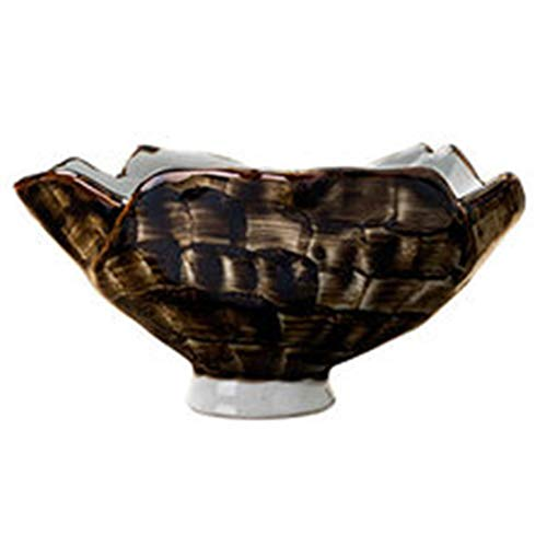 Bols Bol Japonais Underglaze Bol Haut Bol En Céramique Vaisselle Ménage Bol À Salade De Fruits Irrégulier Noir Cadeau (Color : Black, Size : 18 * 18 * 15.5cm)