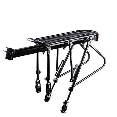 Can Be Manned Rear Bike Rack,Bicycle Cargo Rack Bicycle Carrier Holder Carrier,Fixed-tooth Bike Luggage Rack Bicycle Accessories,Black