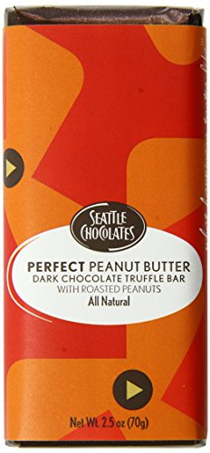 Seattle Chocolates Bar, Perfect Peanut Butter, 2.5-Ounce (Pack of 12)