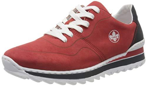 Rieker Damen Frühjahr/Sommer M6929 Sneaker, Rot (Red/Pazifik 33), 40 EU