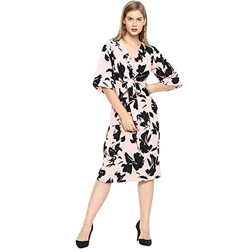 Campus Sutra Women Stylish Floral Design & Front Drawstring Casual Dresses (AZ21DRS_CSWSSDR250_AZ)