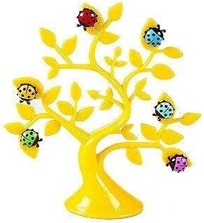 Fridge Magnets - vanzlife Creative lucky tree ladybug magnets photo clip notes folder refrigerator microwave stickers (Yel...