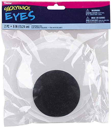 Darice EYE-6 2-Piece Adhesive Wiggly Eyes for Craftwork, 6-Inch