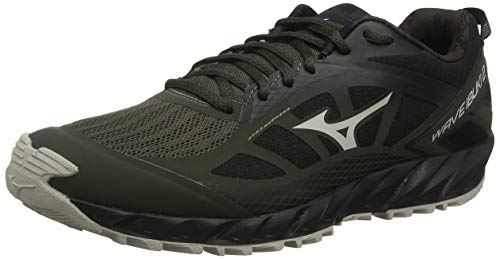 Mizuno Wave Ibuki 2, Zapatillas de Trail Running para Hombre, Green Forest Night Silver Cloud Negro 38, 42.5 EU