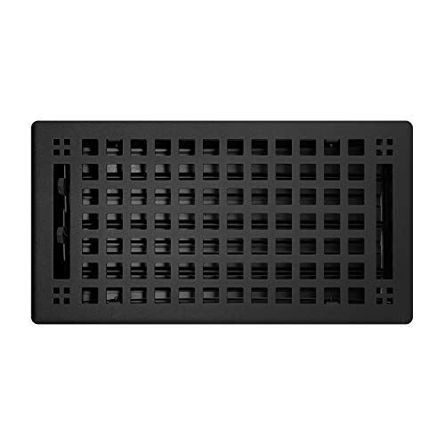 Madelyn Carter 6' x 10' Artisan Flat Black Vent Covers, Steel (Overall Face Size: 7.5' x 11.5')