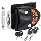 WELLUCK RV Lock Keyless Entry Door Handle Latch, Trailer Camper RV Door Lock Replacement w/ Knob Deadbolt, 2 Key Fobs and Backlit Keypad, Zinc Alloy Security RV/5th Accessories, Silent Mode Available