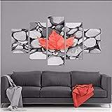 myvovo (Sin Marco) Pintura Sobre Lienzo Foto de Casa Moderna HD Impresiones de Moda Wall Art Poster5 Panel Hojas de Arce Canadá Boy Room Decor