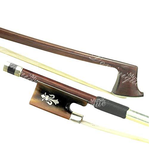 D Z Strad Model 524 Full Size 4/4 Top Brazil Wood Violin Bow with Ox Horn Fleur de Lis Frog