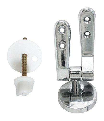 Vigor-Blinky Idroblock 03035001 Coppia Cerniere per Sedili WC, attacco universale, 8 Viti in Inox, Cromato