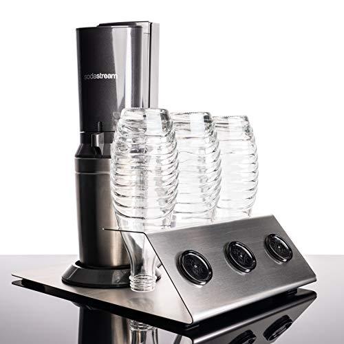 Streambrush Abtropfhalter aus Edelstahl Abtropfständer für Sodastream Crystal & Emil Flaschen - Flaschenhalter (Edelstahlhalter ohne Unterblech) Typ Torge