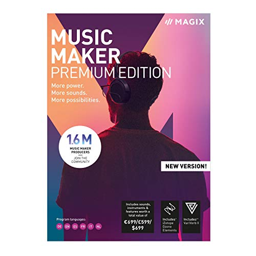 MAGIX Music Maker 2019 | Premium | PC | PC Activation Code by email