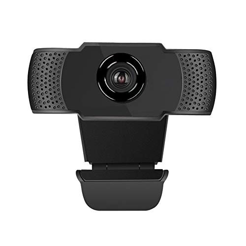 YP Webcam with Microphone, Plug and Play USB Camera with Auto Focus, Fold-and-Go Design, 360-Degree Swivel, Noise Reduction Microphone for Live Streaming, Video Calling, Live Class, Studying
