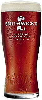 Smithwick's Irish Ale 3D Raised Lettering Signature Glass Imperial 20 Ounce Pint - 1 Glass