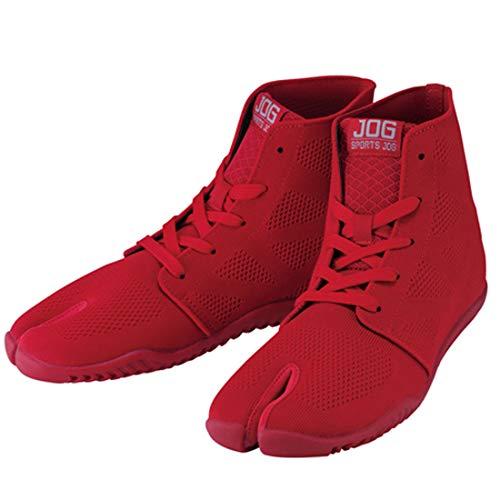 [丸五] スポーツジョグ2 祭り足袋 赤 足袋 祭り レッド 祭足袋 スニーカー 足袋 ジョギング スポーツジョグ�U ランニング 足袋シューズ 祭りたび よさこい 地下足袋 男性 メンズ 女性 レディース 紳士 婦人 足袋スニーカー お祭り 履物 靴(赤レ