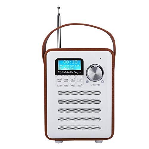 Mxzzand Radios Portátiles, Dab Radio Multifunción Multi-Idioma Inalámbrico Radios Digitales Portátiles Dab para Jardín De Cocina
