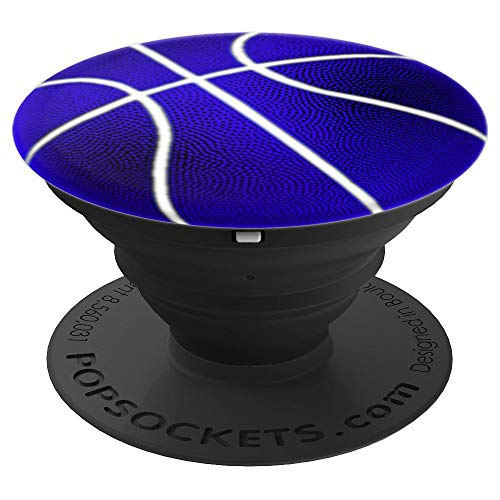 Blau-Weiß-Basketball - PopSockets Ausziehbarer Sockel und Griff für Smartphones und Tablets