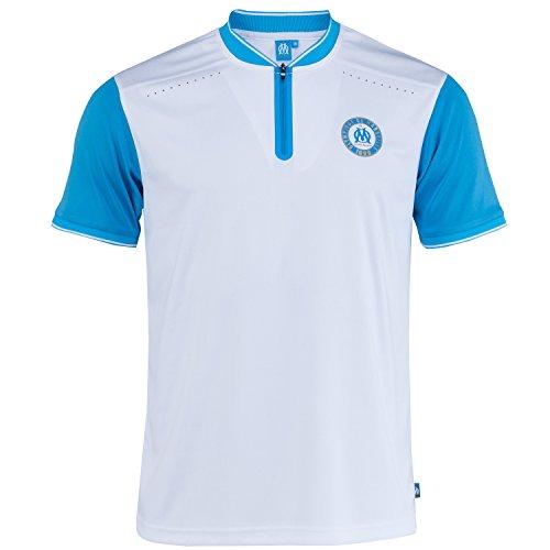 Olympique de Marseille Poloshirt Retro Olympique Marseille, offizielle Kollektion, Erwachsenengröße, Herren L