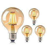 [Hochwertige und Langlebig] Alle Rohstoffe unserer LED Edison vintage glühbirne sind Langlebig und sicher. Mit hochwertigen LED-Filament ist die Lichtquelle konstant und nicht flackert. [Dekorative Glühbirnen] Rundum 360-Grad-Licht, exquisites und ei...