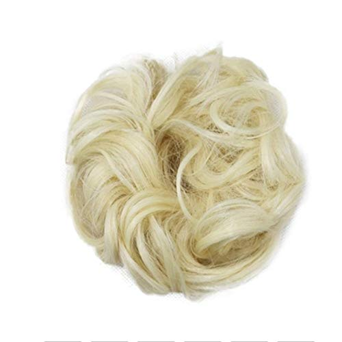 Femmes Facile à porter élastique Chignon postiche Messy Curly Bun Mix Gris naturel Chignon synthétique Extension de cheveux Chic et branché pour les femmes Cosplay Party (Color : 22)