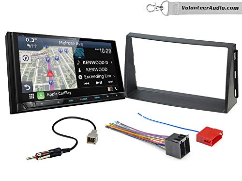 For Sale! Kenwood Excelon DNX996XR Double Din Radio Install Kit With Apple CarPlay, Android Auto, Si...