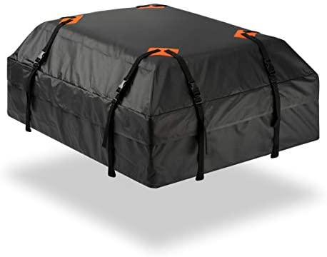 Durable Roof Top Waterproof Cargo Bag – Zone Tech Classic Black 15 Cubic Feet Premium Quality Universal Waterproof Fold-able Leak Proof Traveling Roof Top Car Bag