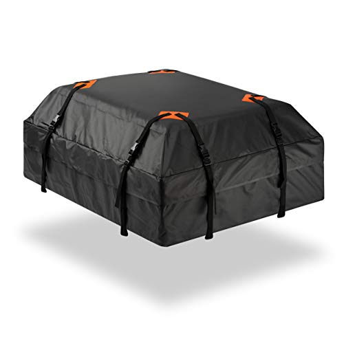 Durable Roof Top Waterproof Cargo Bag - Zone Tech Classic Black 15 Cubic Feet Premium Quality...