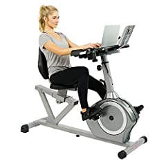 MULTITASKING MADE EASY: This adjustable recumbent bike workstation features a large non-slip platform (15L x 22W x 2Hinch) that holds your tablet or book to take your mind off your workout. Tray accommodates up to 20 lb. MULTI FUNCTION: Displays calo...