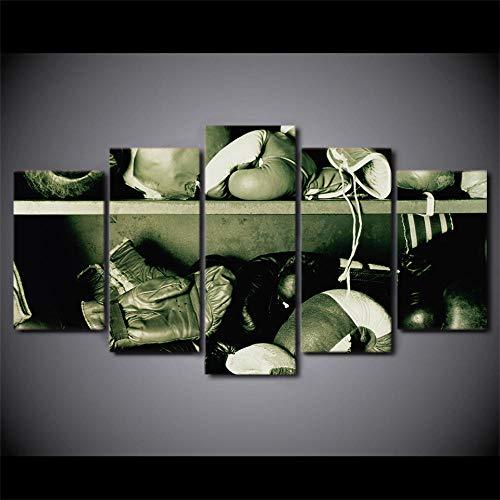 ERSHA Hd Gedruckt 5 Stück Leinwand Kunst Fitness Boxhandschuhe Malen Drucke Home DecorationWandbild(Rahmenlos)