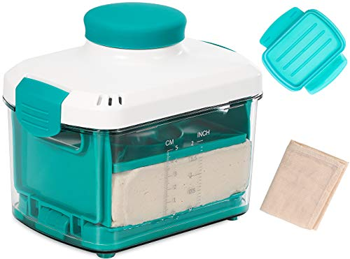 NOYA Tofu Press with Cheesecloth - Vegan Tofu Presser to Speed up Removing Water from Silken, Firm, and Extra Firm Tofu in 10-30mins Without Crack - BPA Free