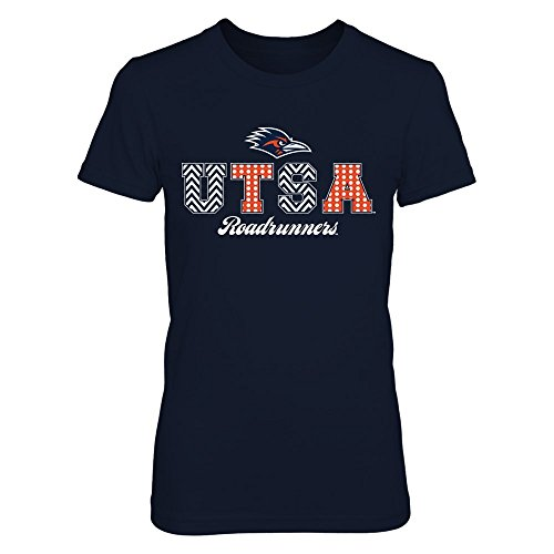 FanPrint UTSA Roadrunners T-Shirt - Patterned Letters - Premium Women