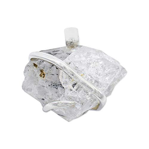 Enhydro Quartz Crystal Pendant Necklace by Stones Desire