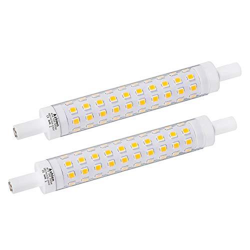 Ampoule LED R7S 118mm 10W Not Dimmable Azhien,Blanc Chaud 2700K,10 Watt Équivalent Lampe Halogene 48W 60W 75W, 1000LM, 360 Degrés, J Type J118 R7S Led Ampoules, Lot de 2