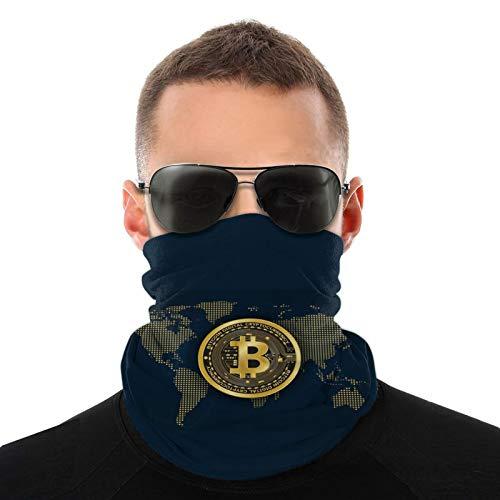 Bitcoin Wallpapers Bufanda cálida para hombres y mujeres adultos Pasamontañas para hombres ligeros 20 * 10 Pulgadas
