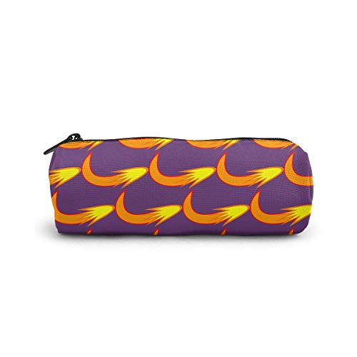 IOPLK Pencil Case/Cosmetic Bag,Seaside Water Wave Canvas Stationery Stylish Simple Pencil Bag