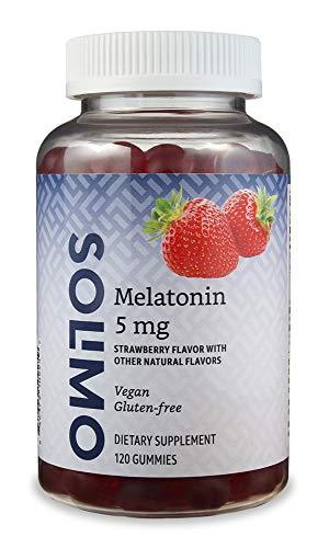 Amazon Brand - Solimo Melatonin 5mg, 120 Gummies (2 Gummies per Serving), Helps with occasional sleeplessness