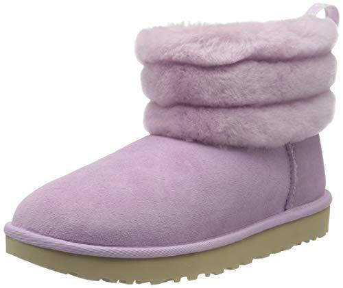 UGG Damen Fluff Mini Quilted Stiefel, California Aster, 39 EU