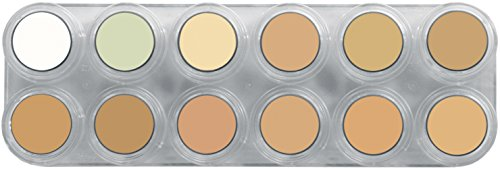 Grimas Camouflage Make-up Pure Palette CH, 12 Farben á 2,5 ml, Profi-Concealer, Abdeck-Schminke, Basis-Make-Up