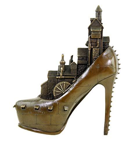 Kunst & Ambiente - Contemporary Art Sculpture - Limited Steam Punk Bronze Figurine - High Heel - Gothic - Shoe - Statue by Martin Klein - Height: 26.0 cm - Accessories Home - 100% Bronze steampunk buy now online