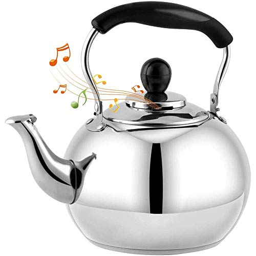 WEIZI Hotplate Whistling Tea Kettle 4L 5L Appearance of The Classic Teapot Culinary Stainless Steel Teapot Composite Process Bottom 4L