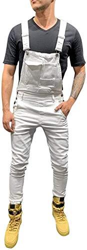 Jeans Peto Estiramiento Pantalones De Los Los Hombre Pantalones Adelgazan Vaqueros Vida de la Moda Básicos De La Longitud De Los Pantalones De Mezclilla Hombre Mono Bolsas Hombre Jeans General del